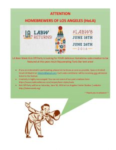 LA BeerWk-HoLA Flyer