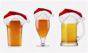 christmas beers with santa hats
